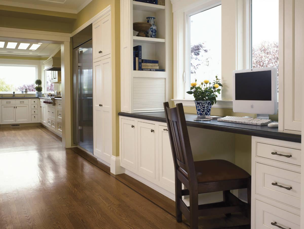 Кабинет совмещенный с кухней