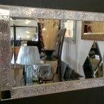Рама для зеркала из стекла изготовленная своими руками
