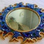 Рама для зеркала из бисера изготовленная своими руками