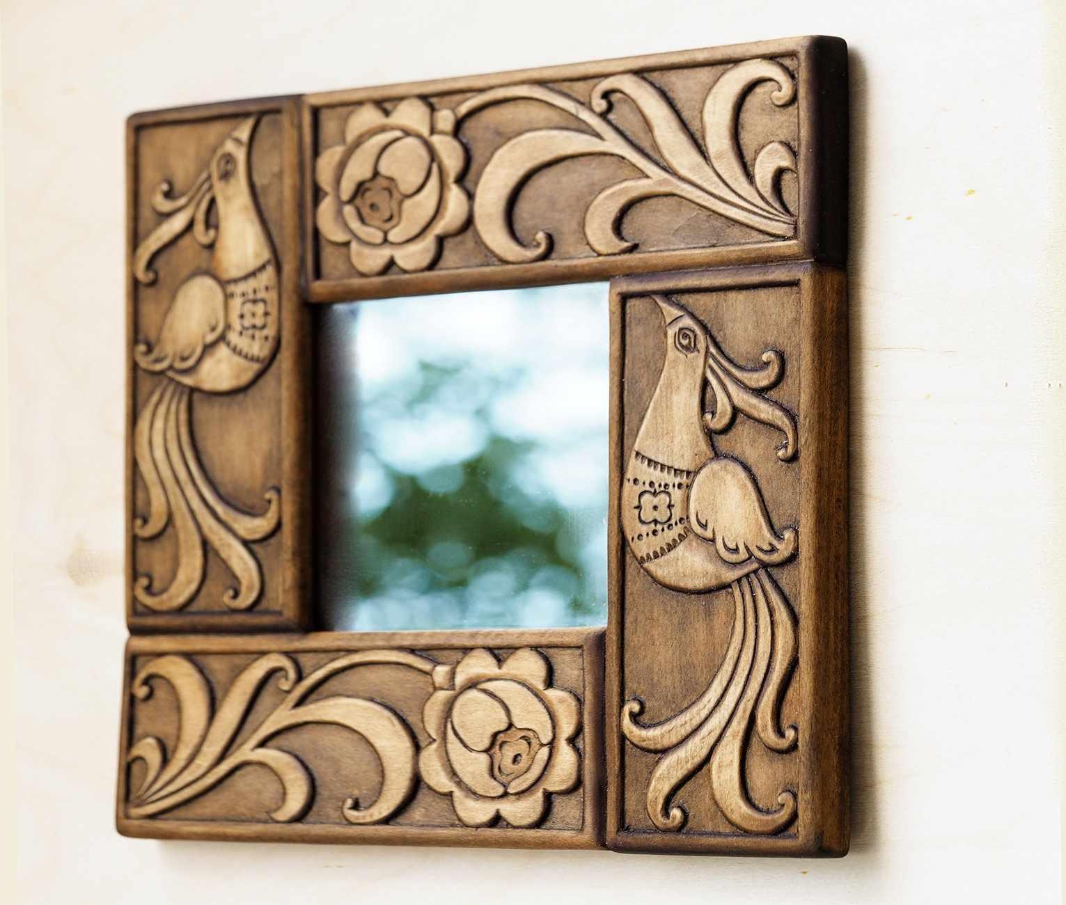 Рама для зеркала в этно стиле