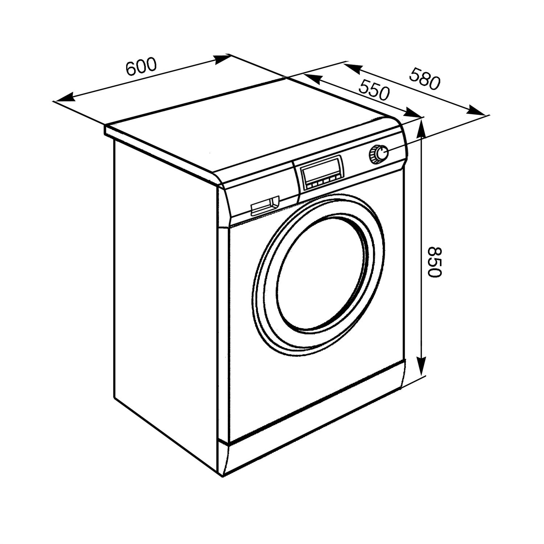 Размер стиральной машинки