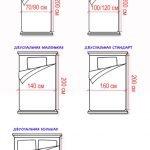 Схема стандартных кроватей