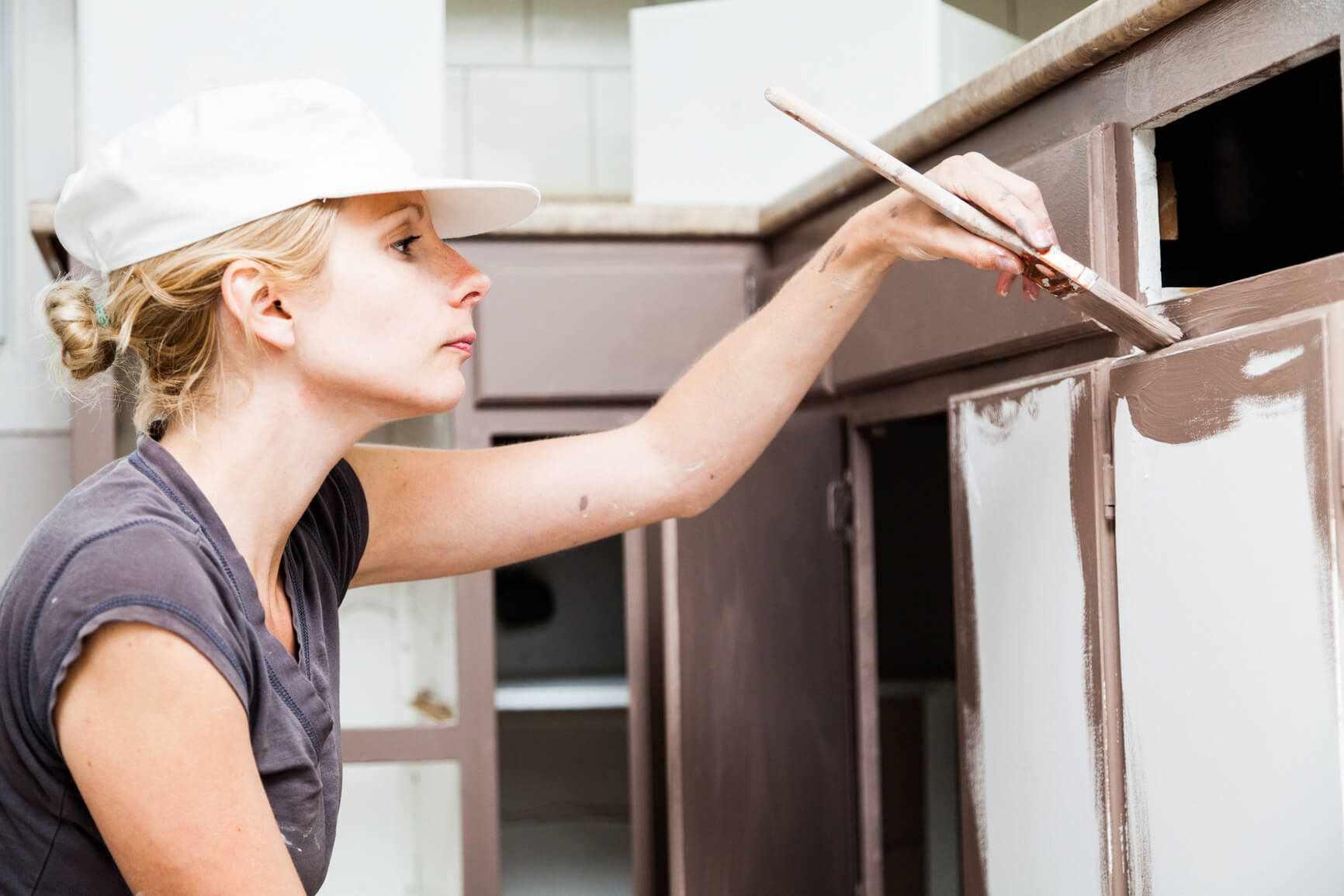 Окрашивание кухонного фасада