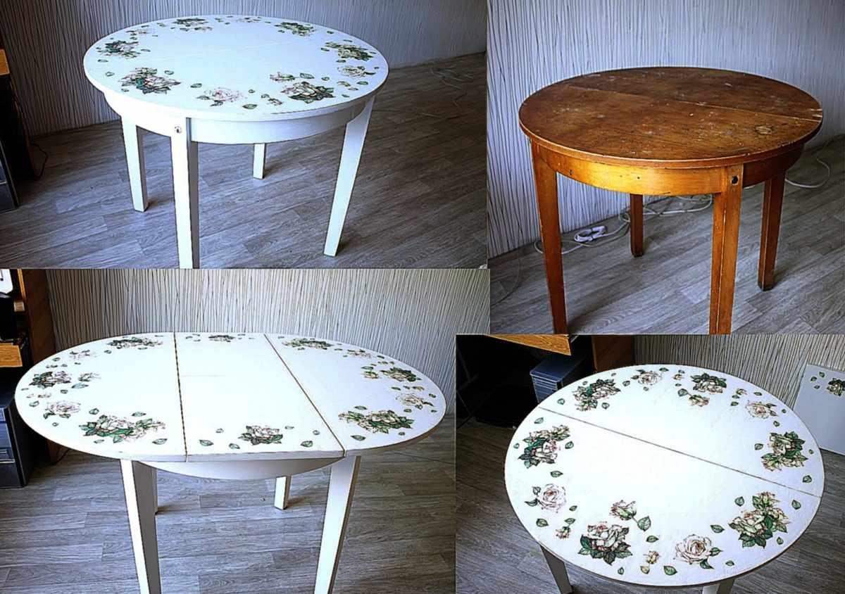 Этапы реставрации стола