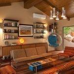 Подвесное кресло в гостиной