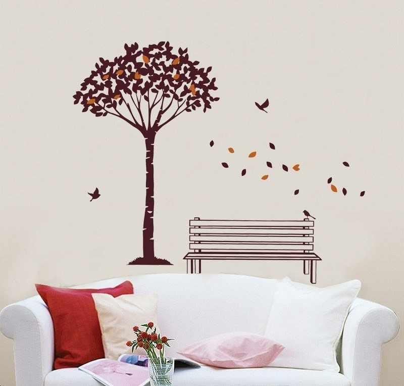 Скамейка под деревом