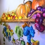 Фрукты и овощи на стене