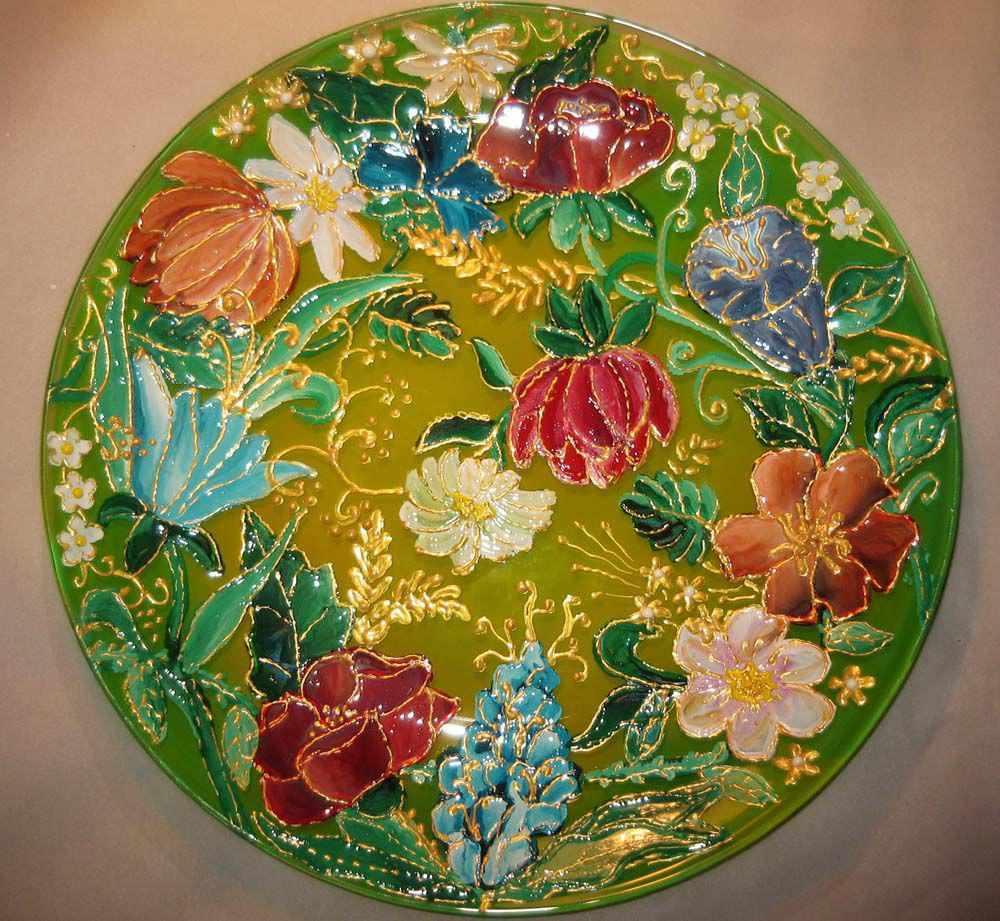 Роспись стекла пленочными красками