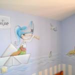 Голубые стены
