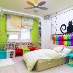 Рулонные шторы в интерьере детской