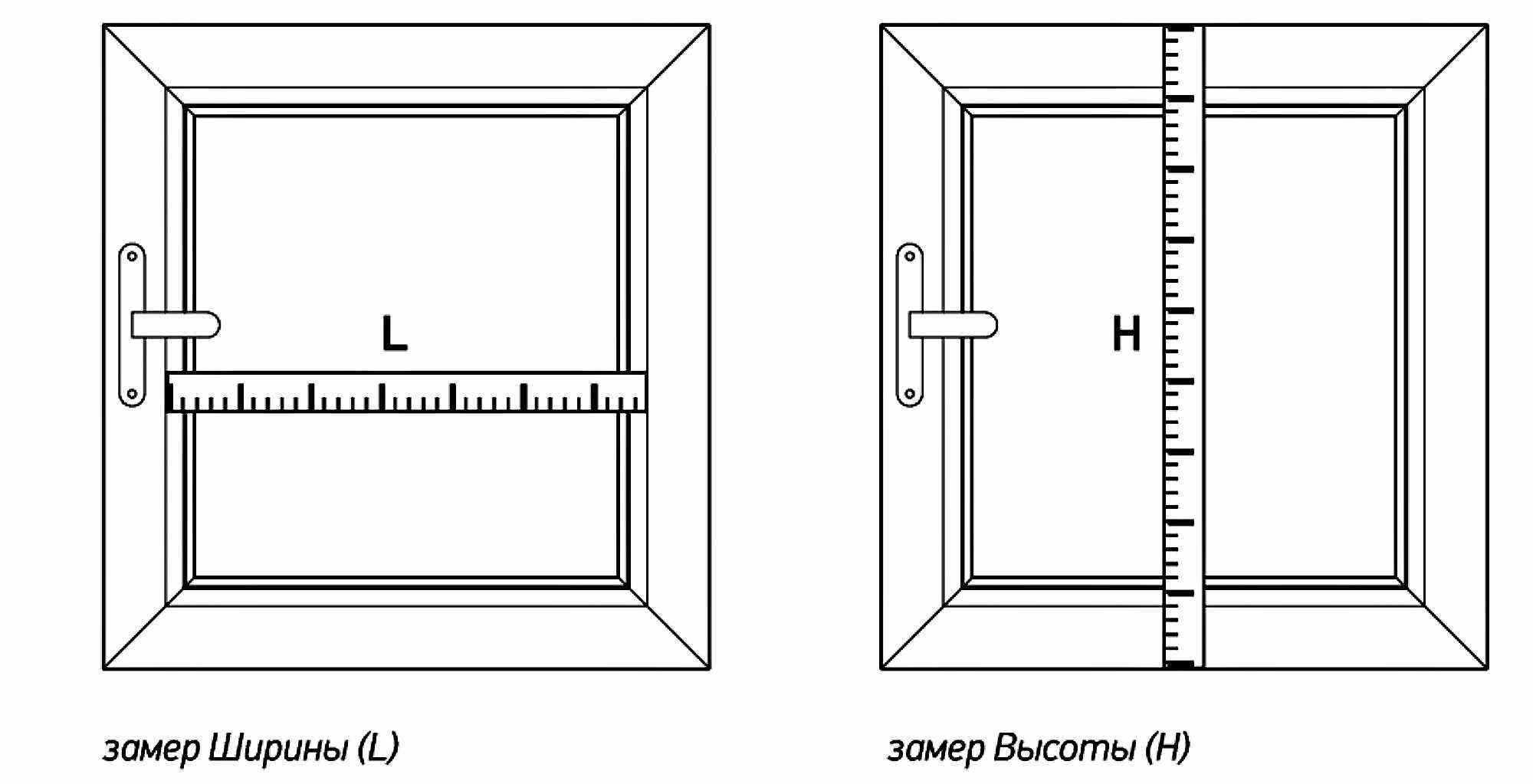 Замер окна для установки рулонных штор