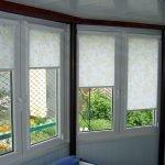 Рулонные шторы в интерьере фото