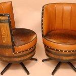 Кресла из деревянной бочки
