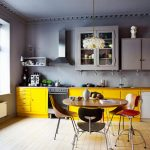 Кухня с зоной столовой