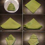 Схема складывания салфетки