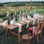 Сервировка стола на пикнике