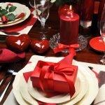 Романтическая сервировка на ден Святого Валентина