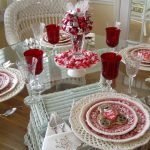 Оформление стола на день Святого Валентина