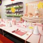 Праздничная сервировка стола для девочки