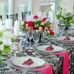 Романтический декор праздничного стола