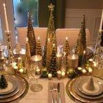 Декоративное оформление стола на Новый год