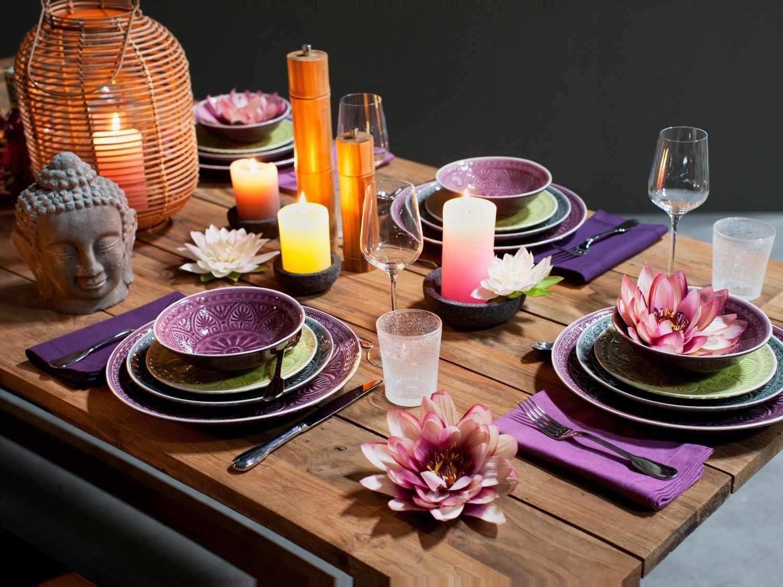 Фиолетовый набор посуды