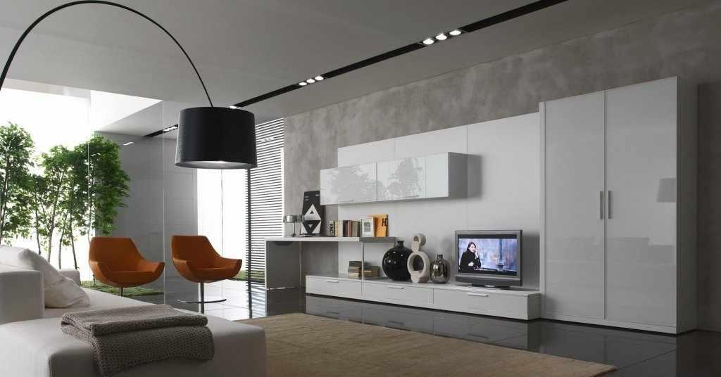 Светлая мебель в сером интерьере