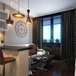 Серый текстиль в кухне