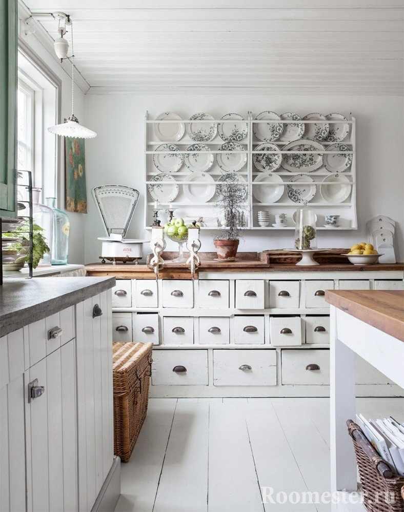Декор кухни в старинном стиле
