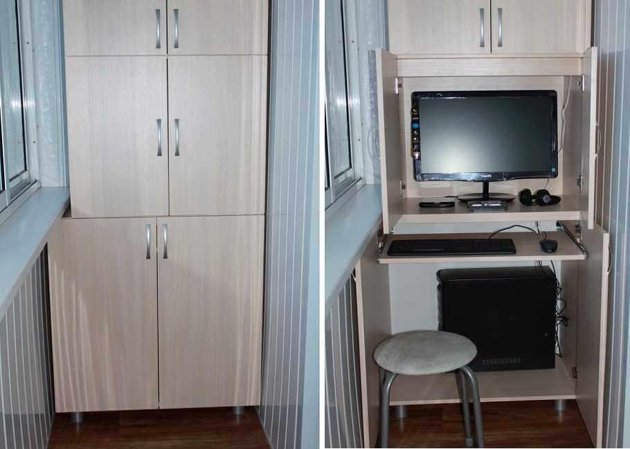 Небольшой кабинет в шкафу