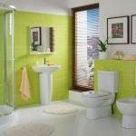 Дизайн салатовой ванной