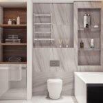 Шкаф стеллаж в ванную