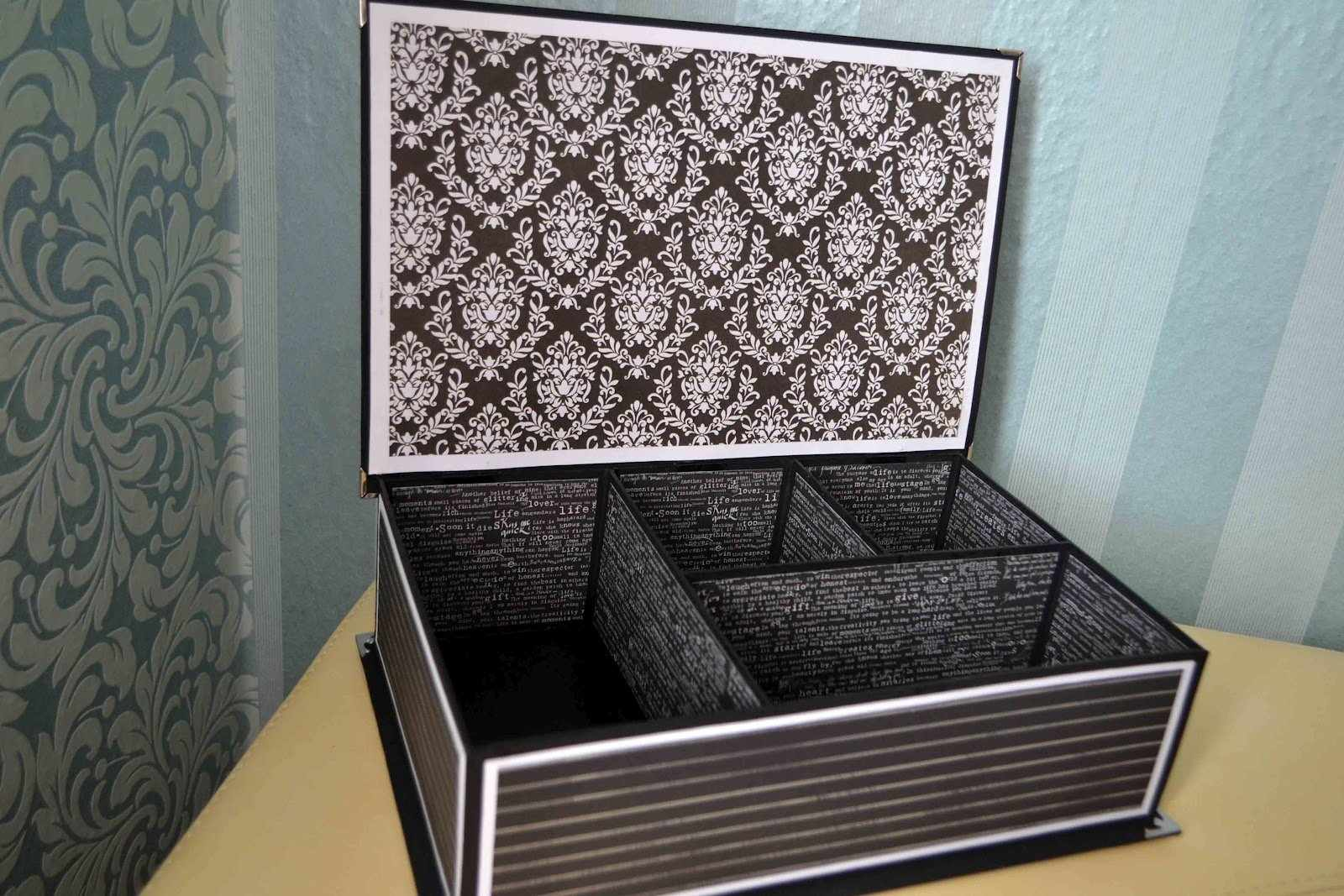Шкатулка из коробок для обуви