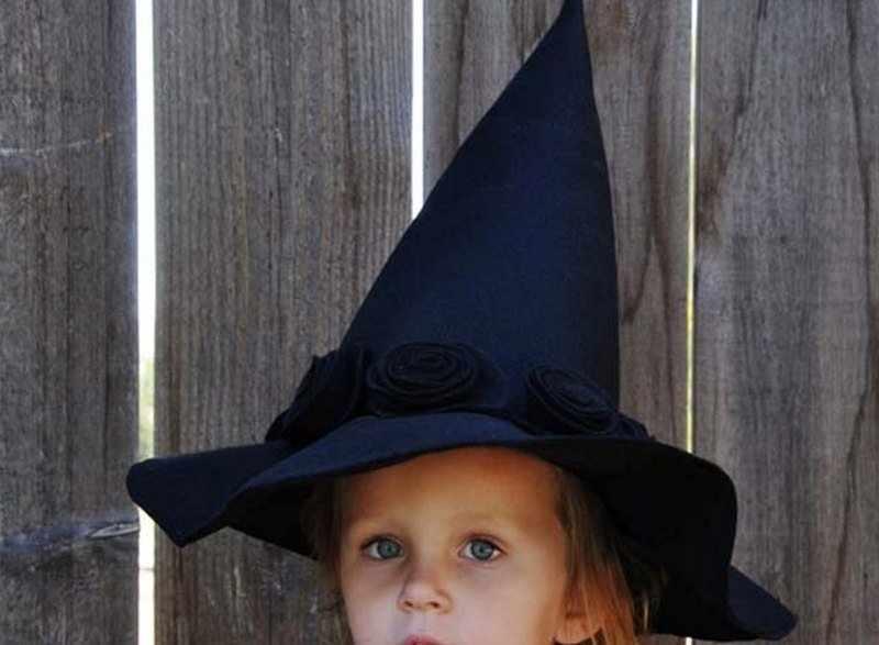 Шляпа ведьмы из ткани