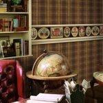 Шотландская клетка в дизайне кабинета
