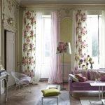 Оттенки розового в интерьере гостиной