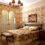 Цветочный принт в дизайне спальни