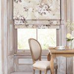 Римская штора в цветочек