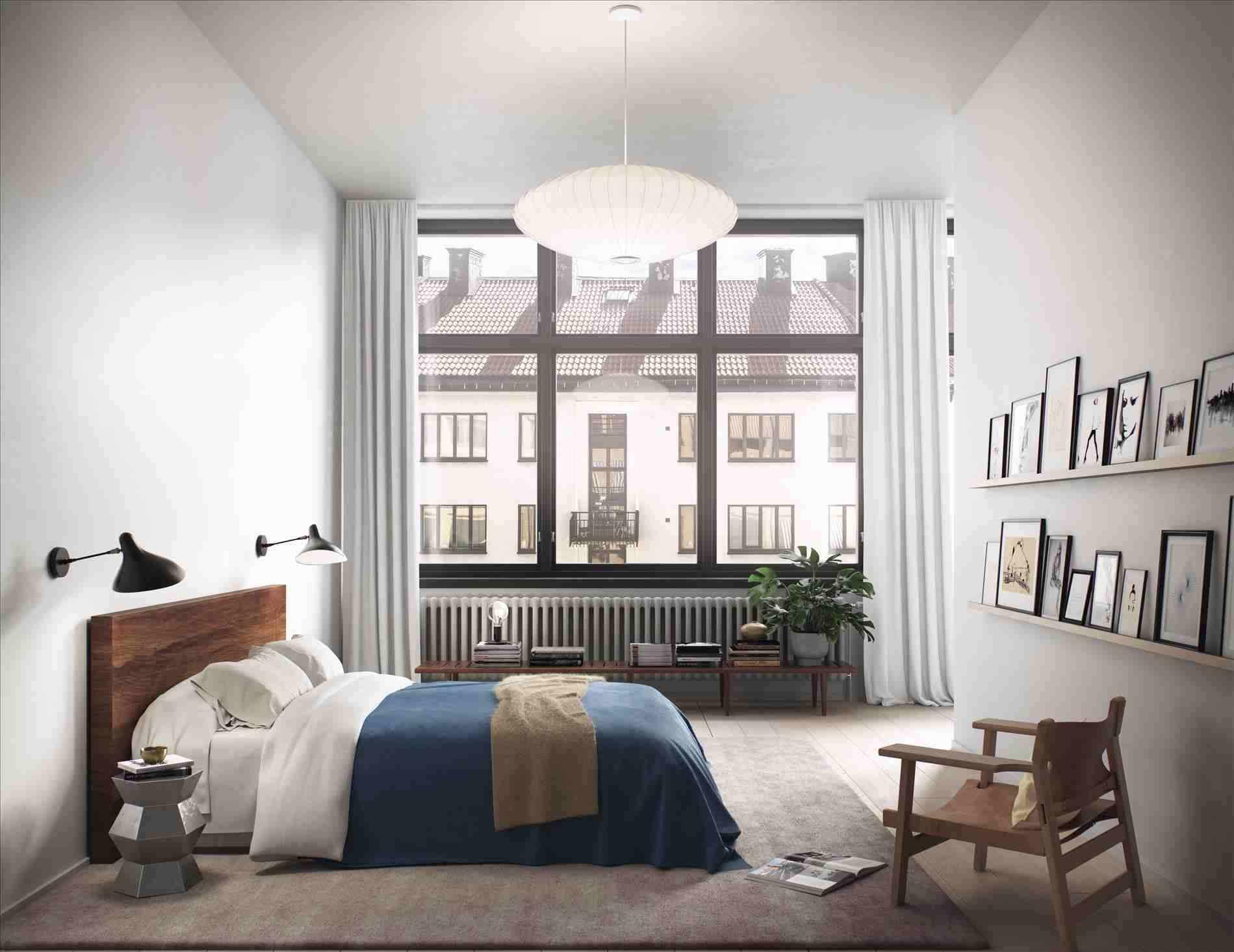 Спальня с коричневыми нотками