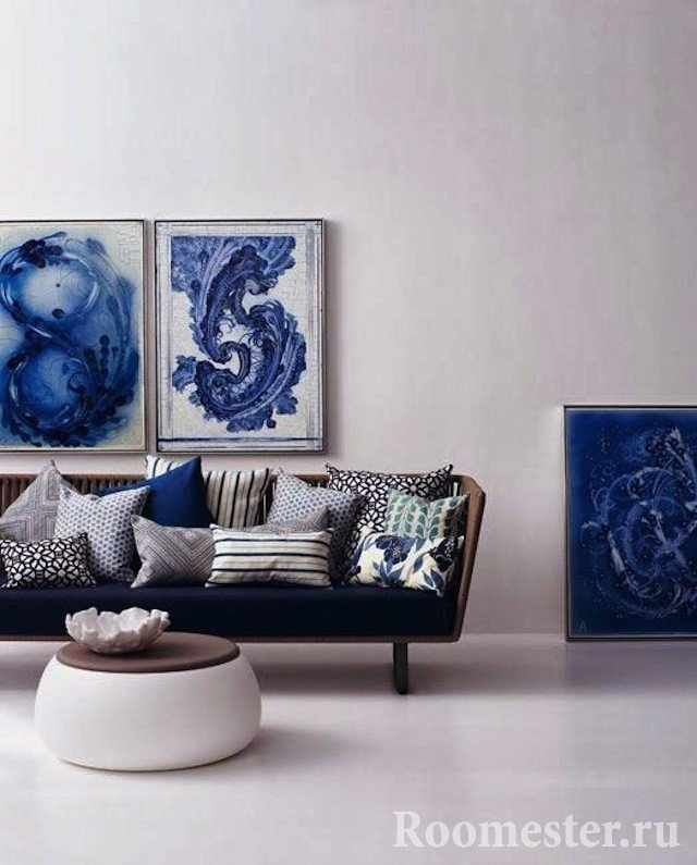 Синие детали интерьера