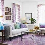 Фиолетовый ковер