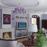 Фиолетовая люстра