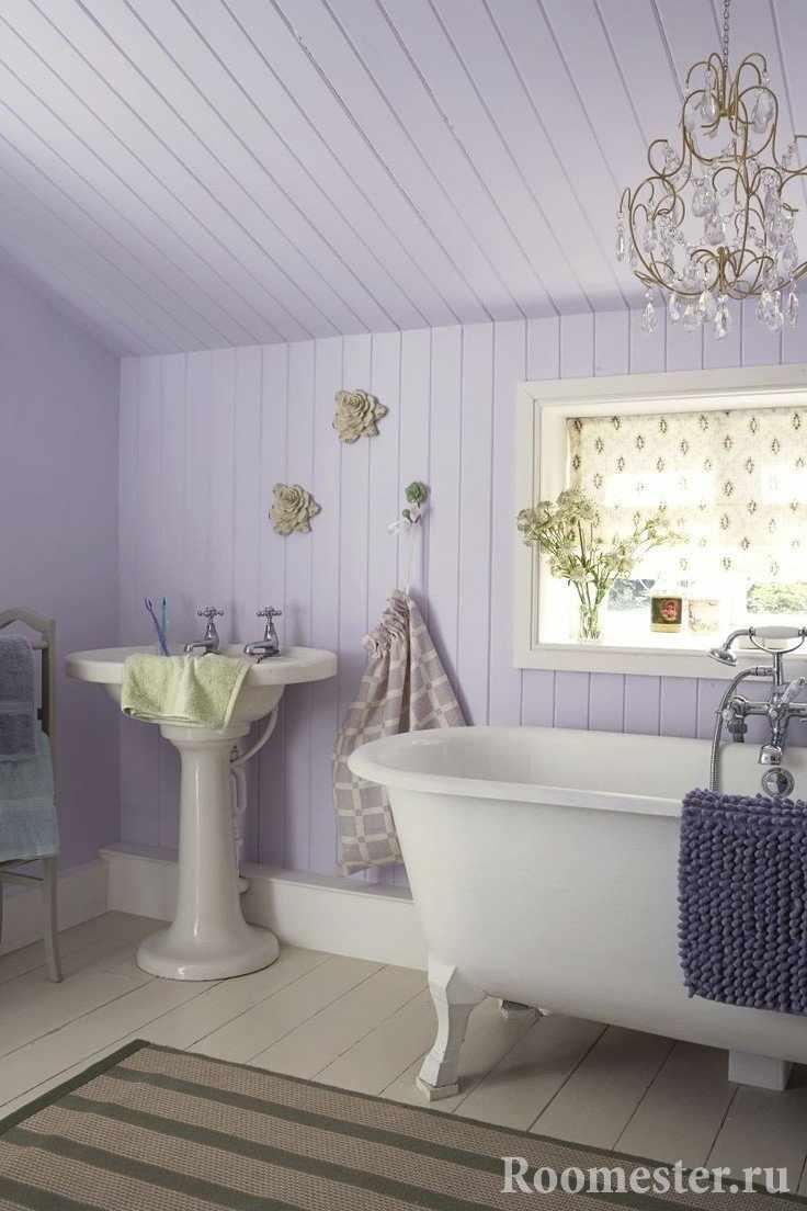 Ванная комната в лиловом цвете