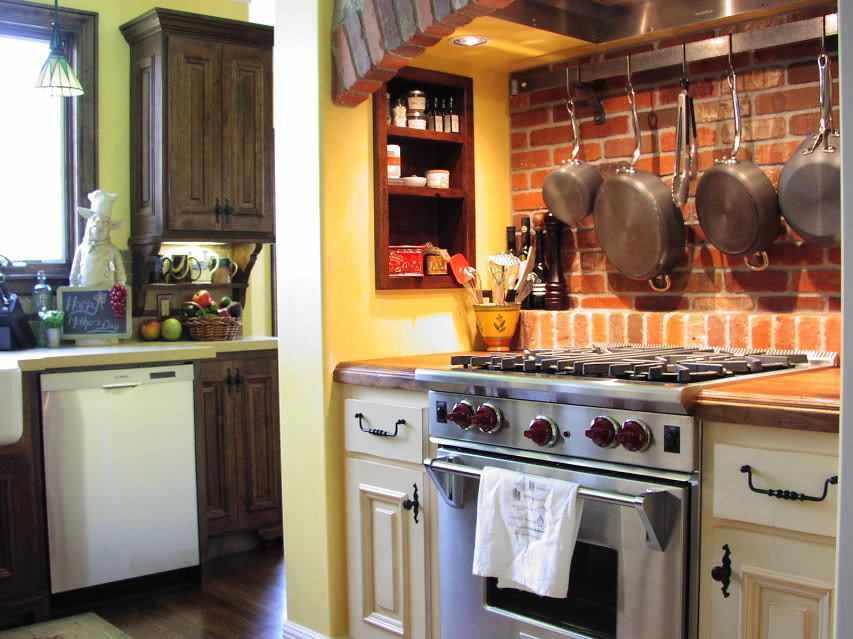 Место хранения хранения в рабочей зоне на кухне