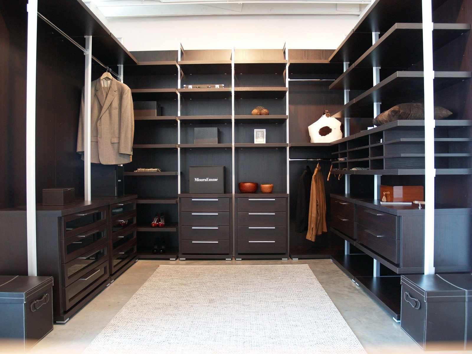 Корпусные системы хранения в гардеробной