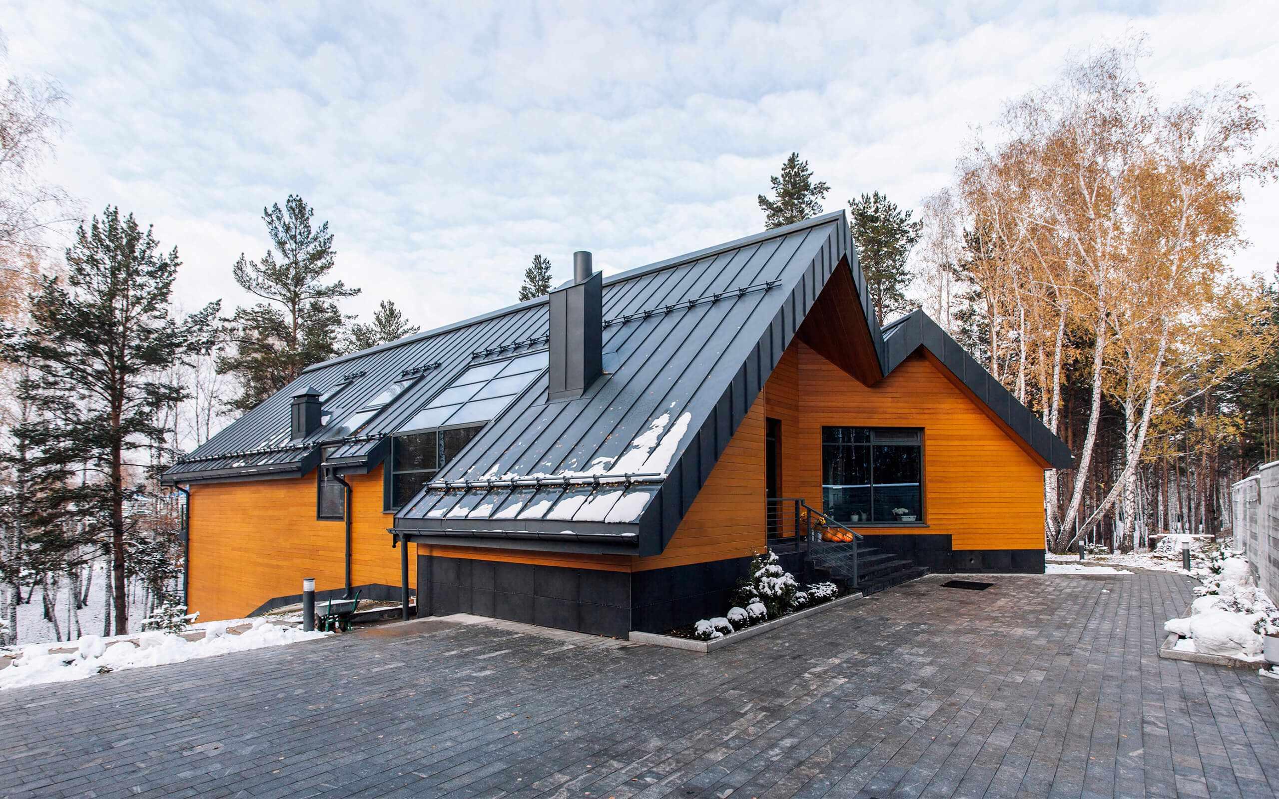 Экстерьер частного дома в скандинавском стиле