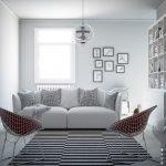 Белый диван и два кресла