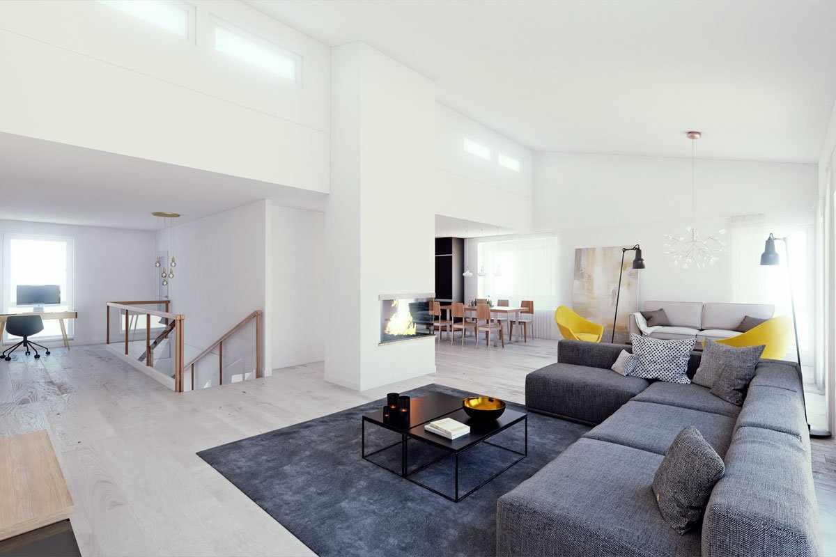 Камины или биокамины в гостиной