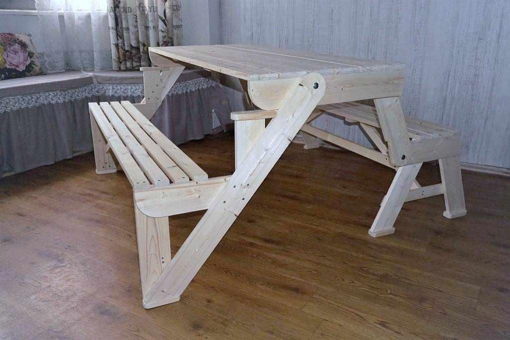 Столик-скамейка