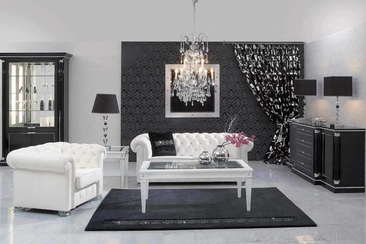 Интерьер в черно-белом цвете